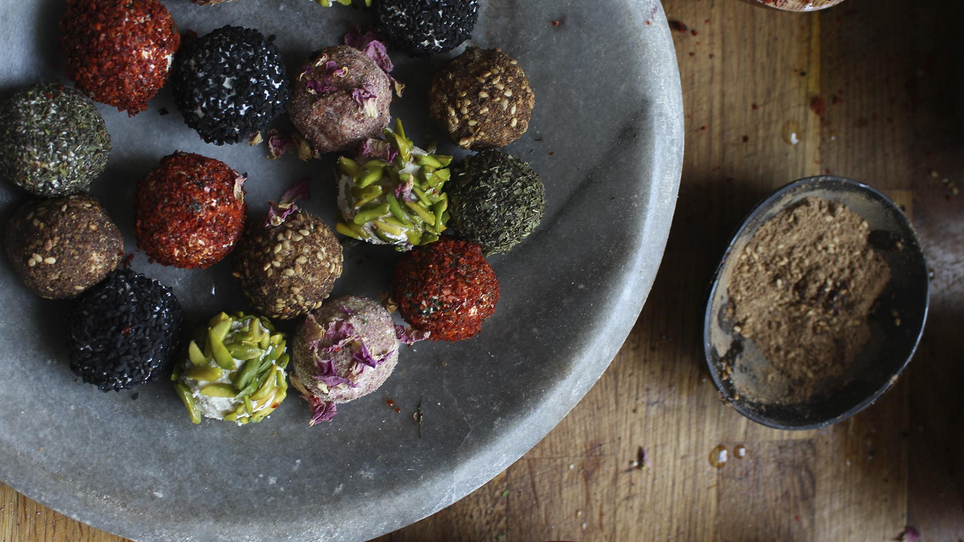Make Hampstead Kitchen's labneh balls; Photography by Charlotte Hu