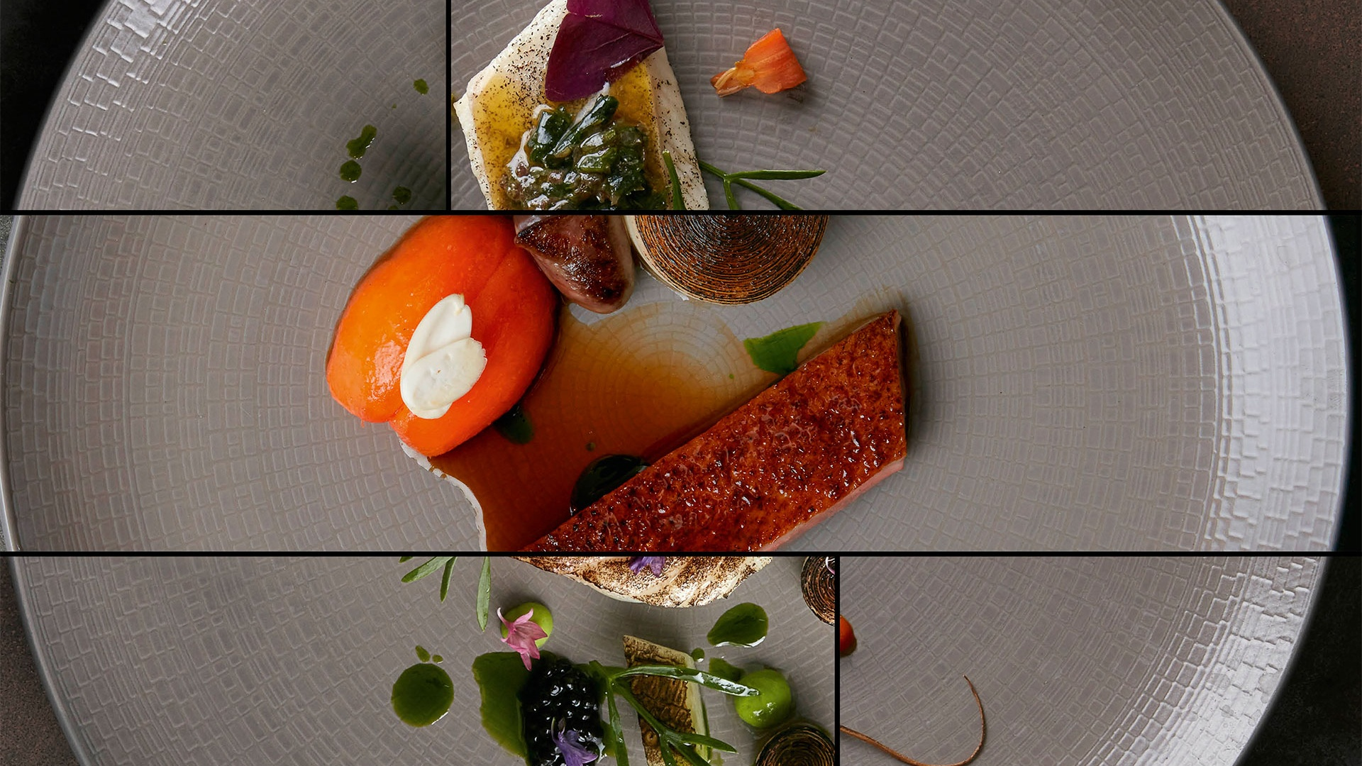 Dishes from the tasting menu at Mark Jarvis's Anglo, in Clerkenwell