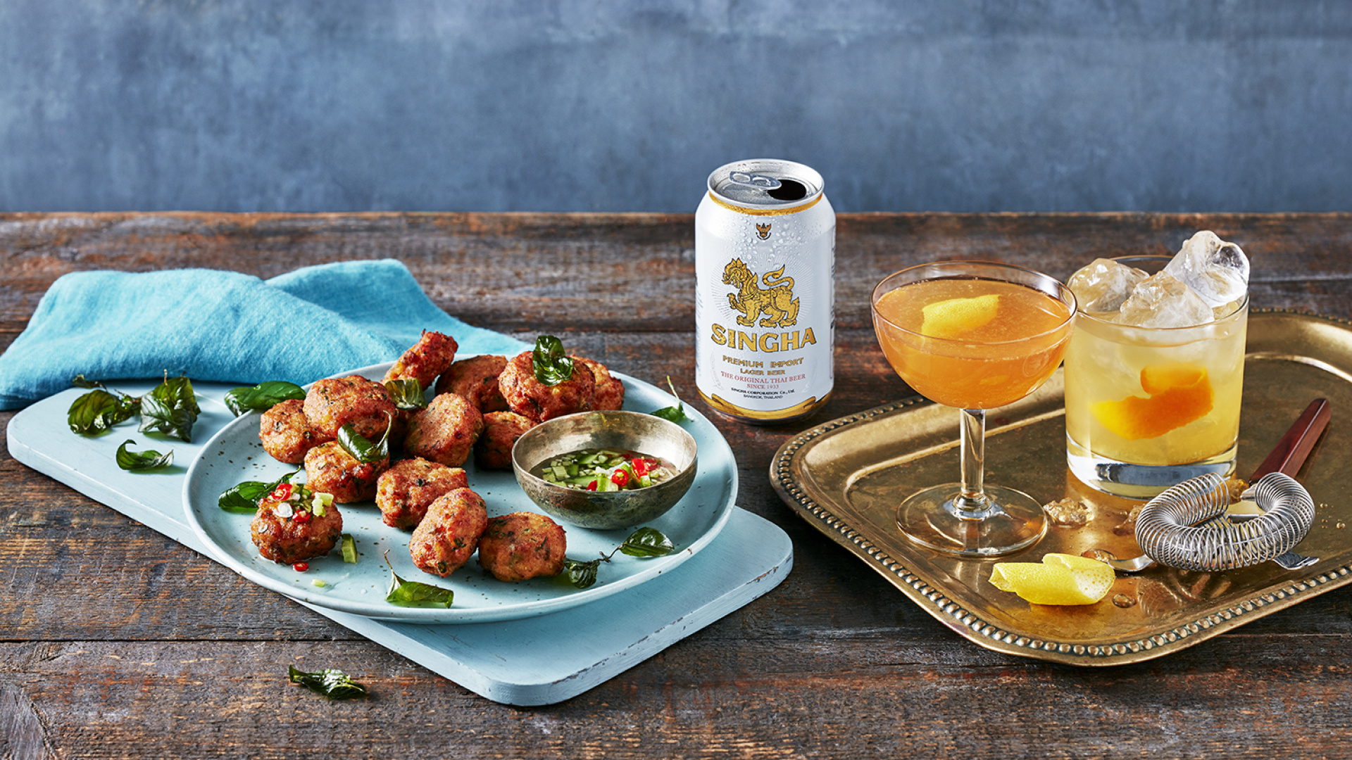 A recipe for Singha beer's Thai fishcakes with Ajut relish by Andy Oliver