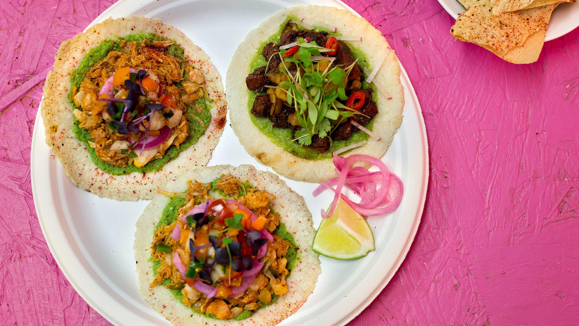 Club Mexicana's vegan tacos at its new location at The Spread Eagle