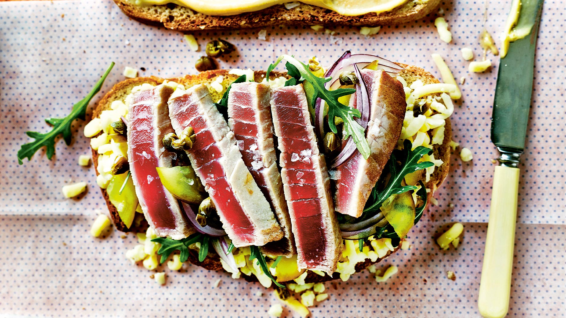 Make Grill My Cheese's fresh tuna melt; photography by Martin Poole