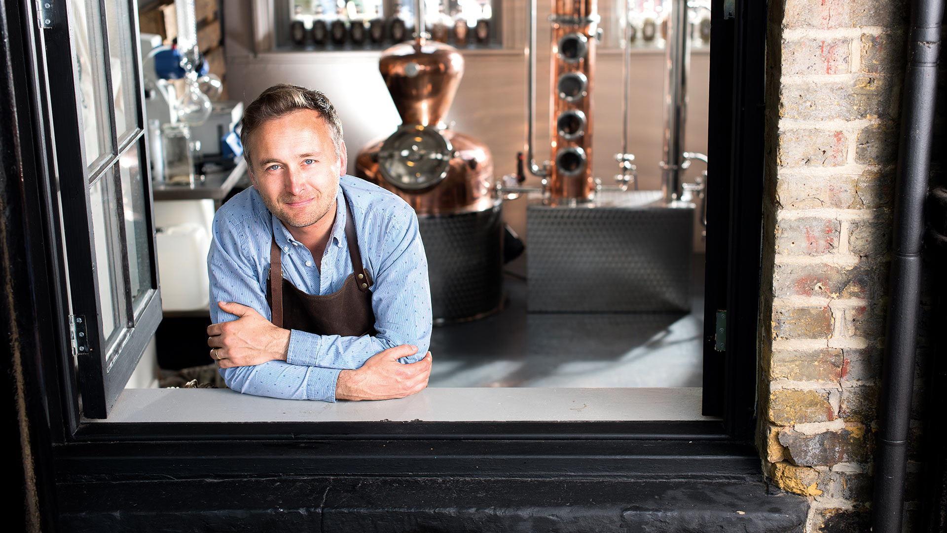Founder of Half Hitch Gin Mark Holdsworth