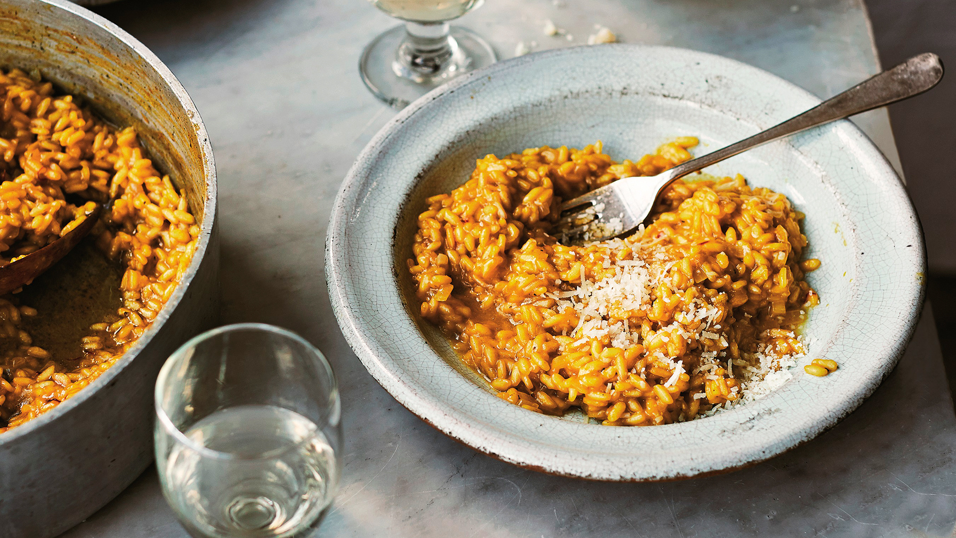 Make Anna Del Conte's risotto alla Milanese; photography by Laura Edwards