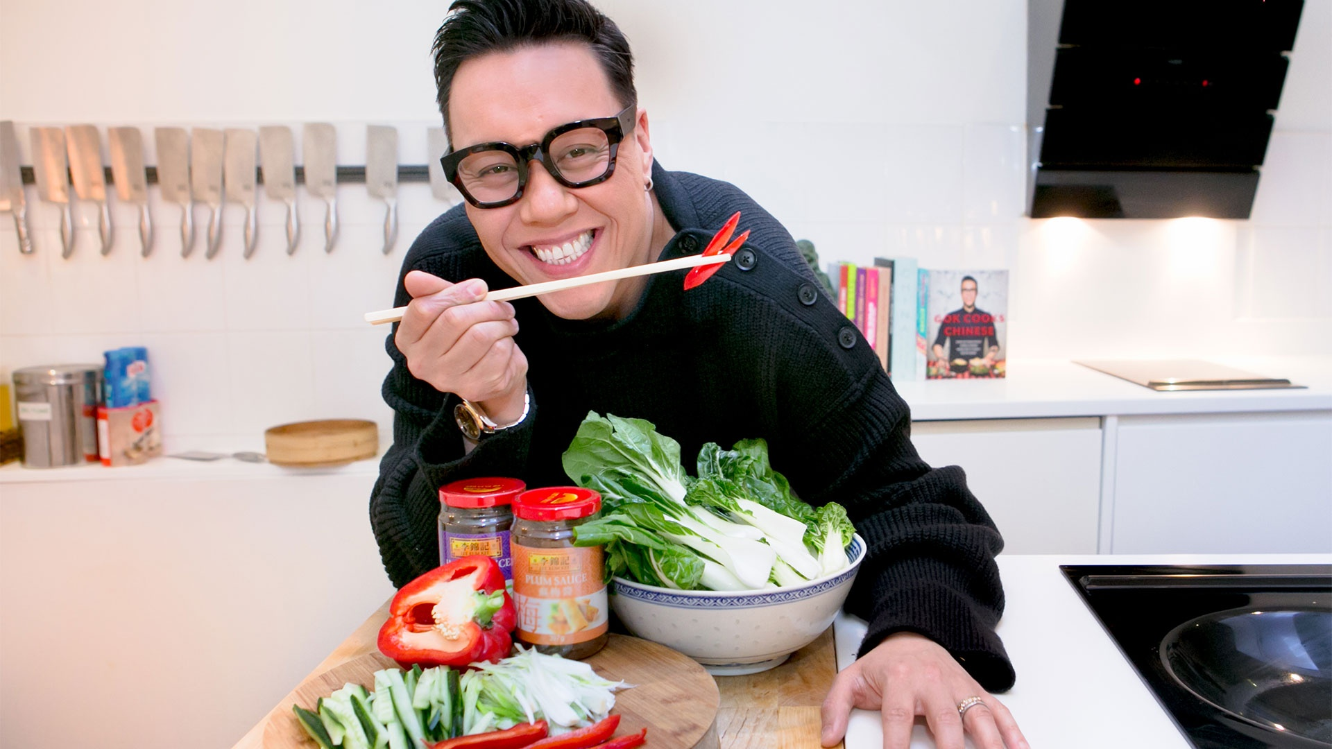 Gok Wan pictured at Jeremy Pang's School of Wok