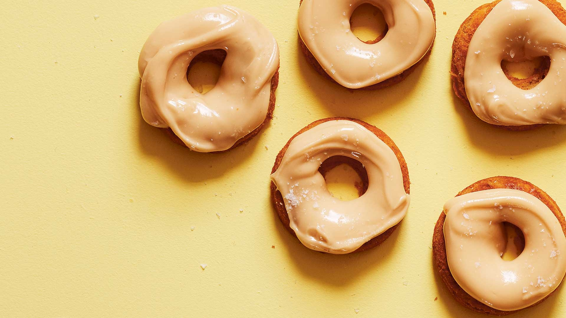 Banana bread and maple syrup baked donuts; photograph: Joe Woodhouse