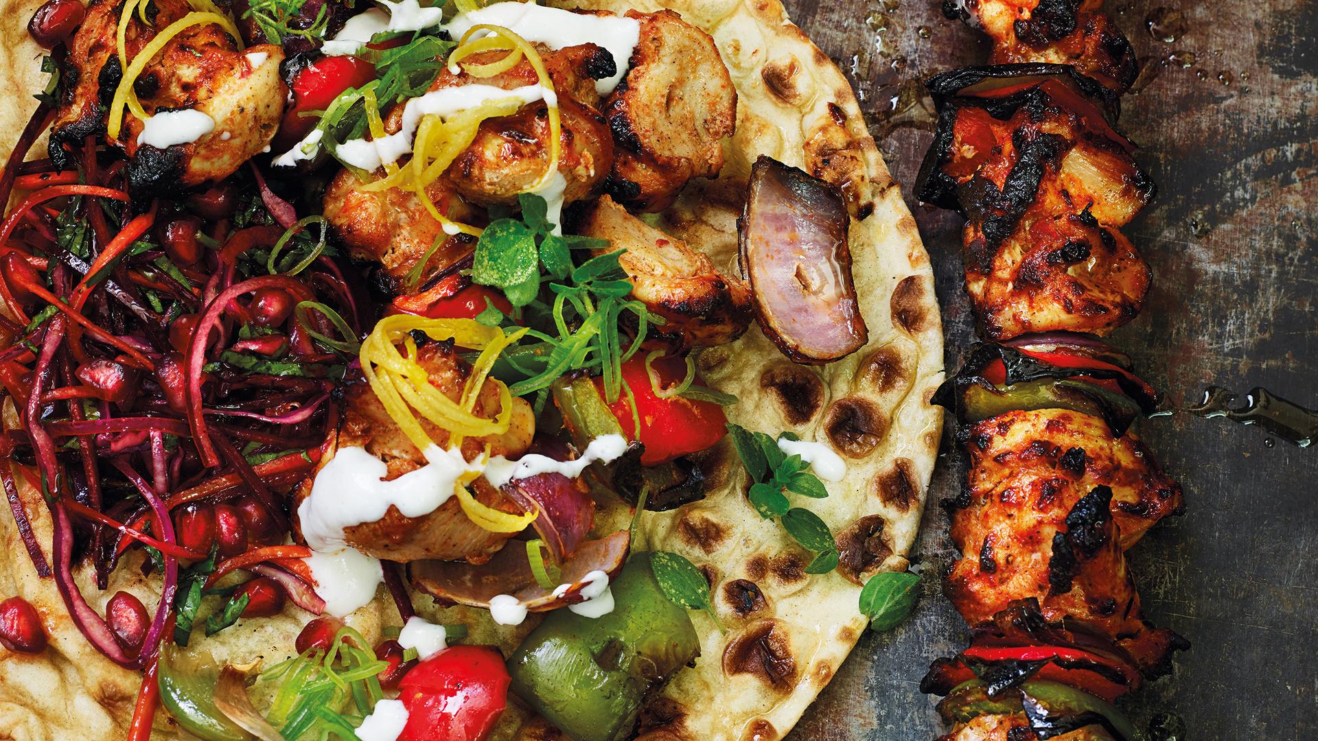 Berber & Q's buttermilk chicken shish kebab