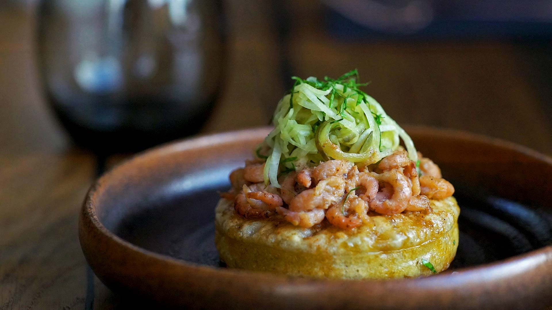 Cornerstone's potted shrimp crumpets