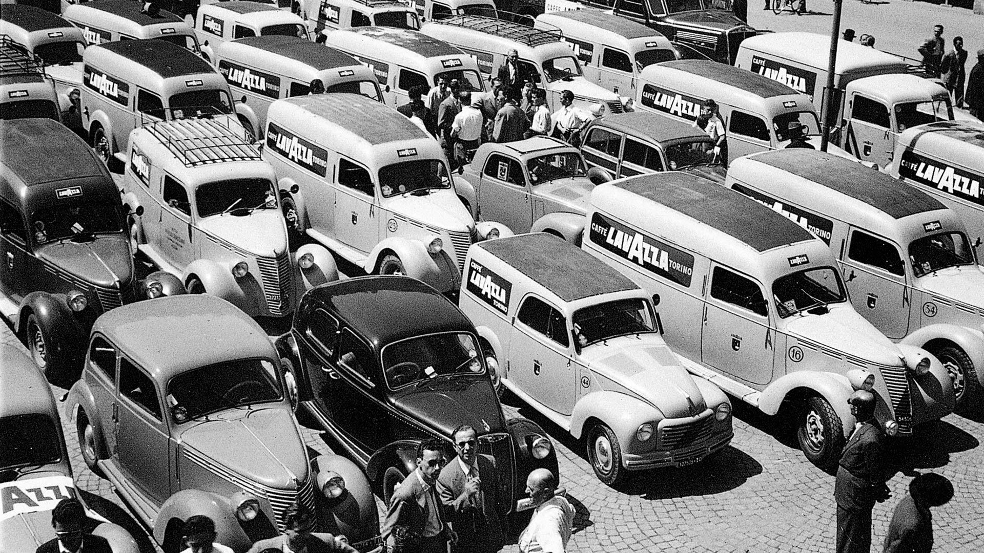 Old-school Lavazza trucks