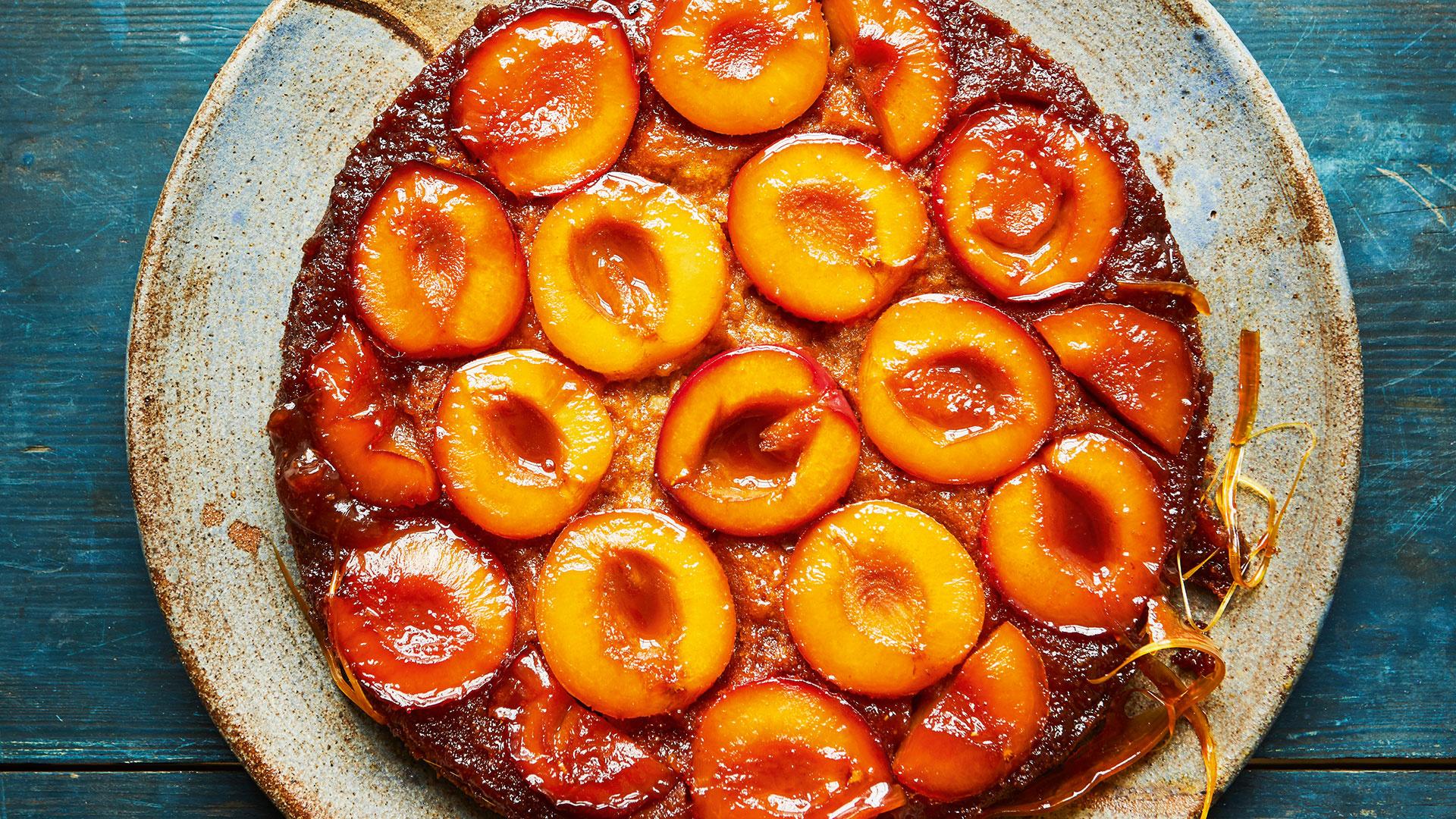 Faiza Hayani Bellili's caramelised plum upside-down cake