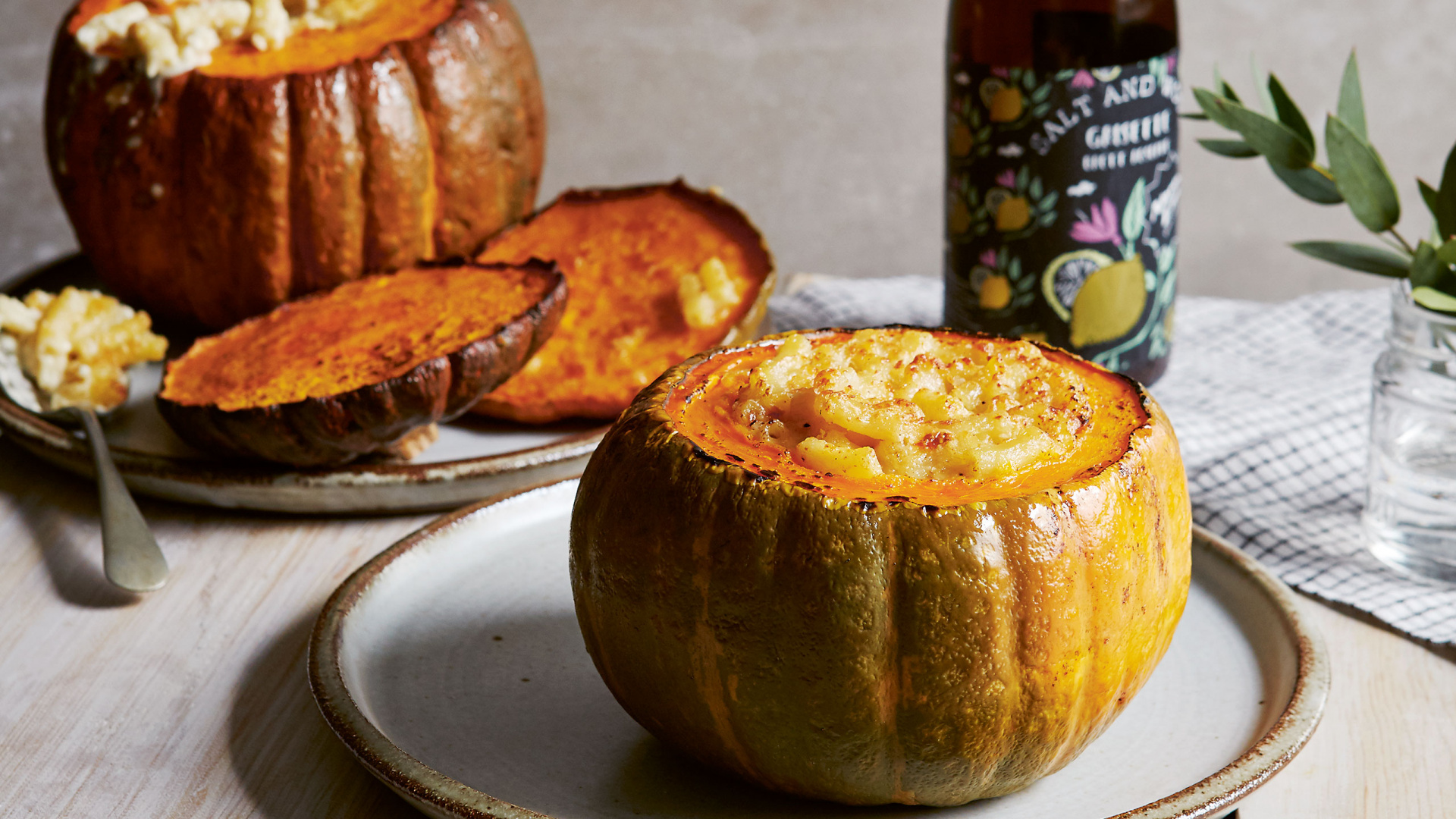Melissa Cole's cheesy pasta pumpkin bowls