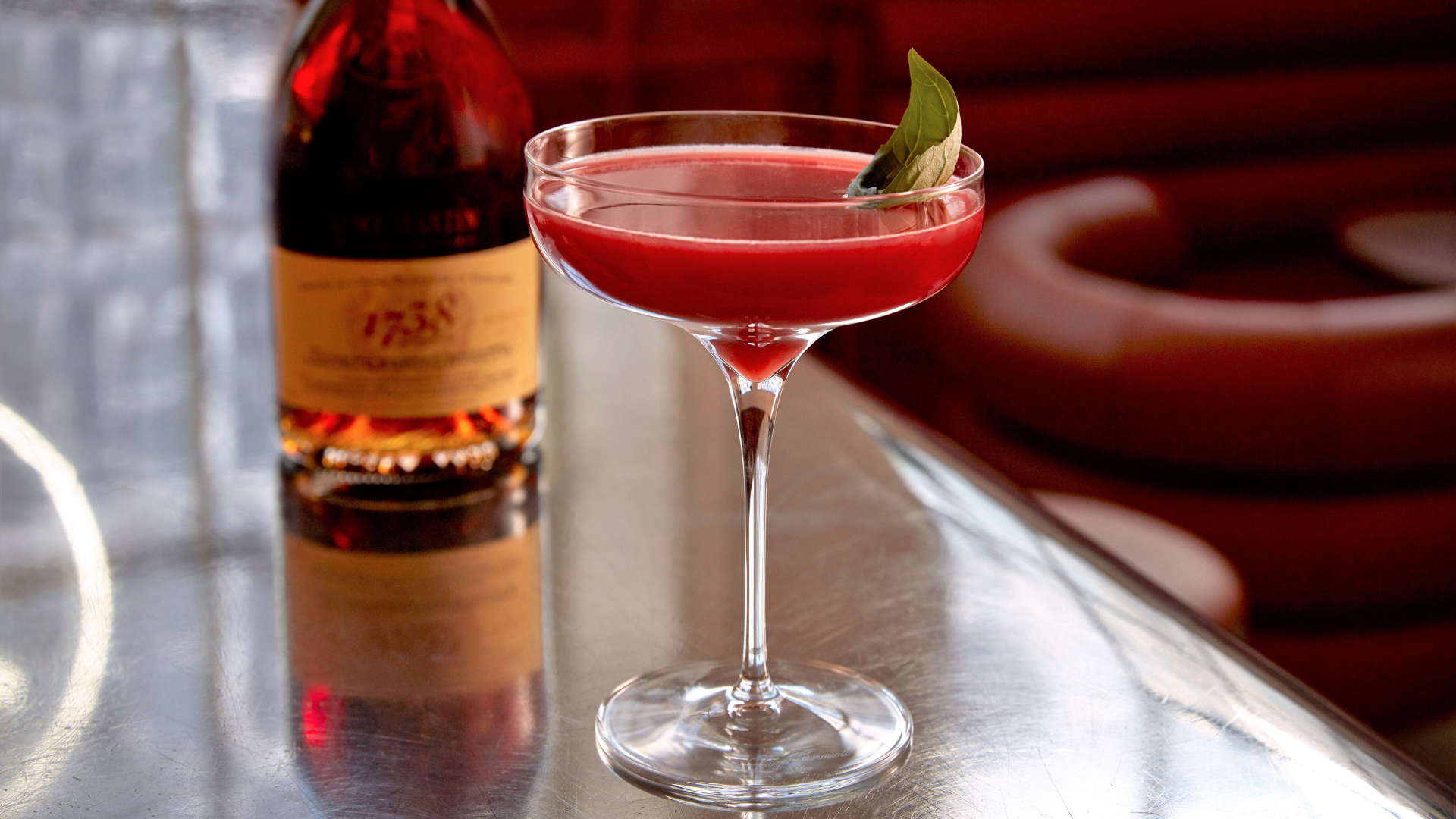 Rémy Martin's strawberry bellini