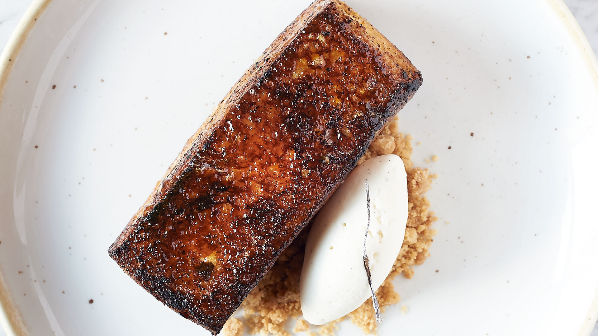 Jun Tanaka's pain perdu with crème anglaise