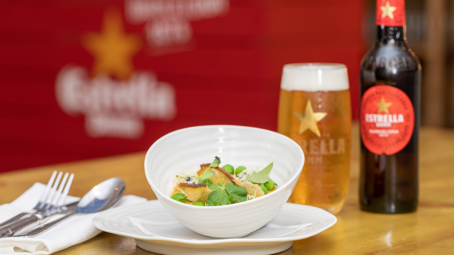 Win a meal every month at the Nation's Top 100 restaurants with Estrella Damm