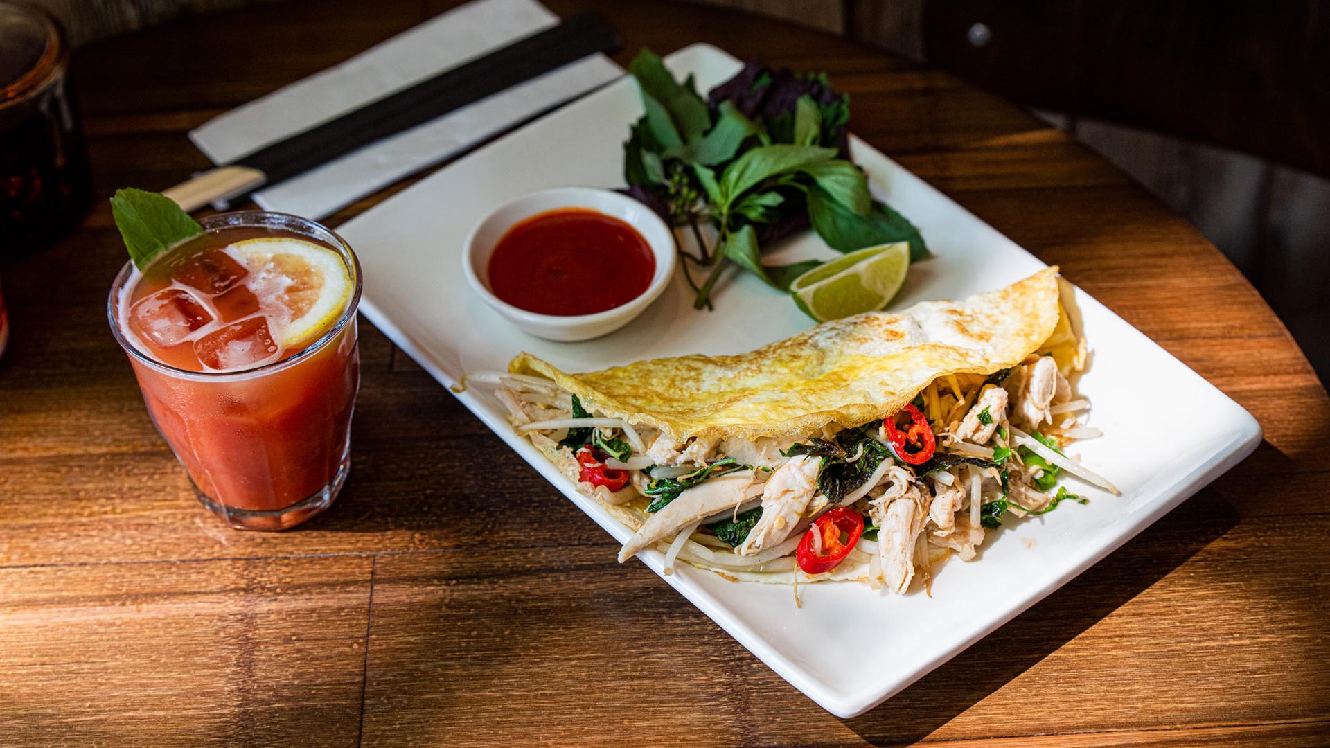 Viet omelette at Pho