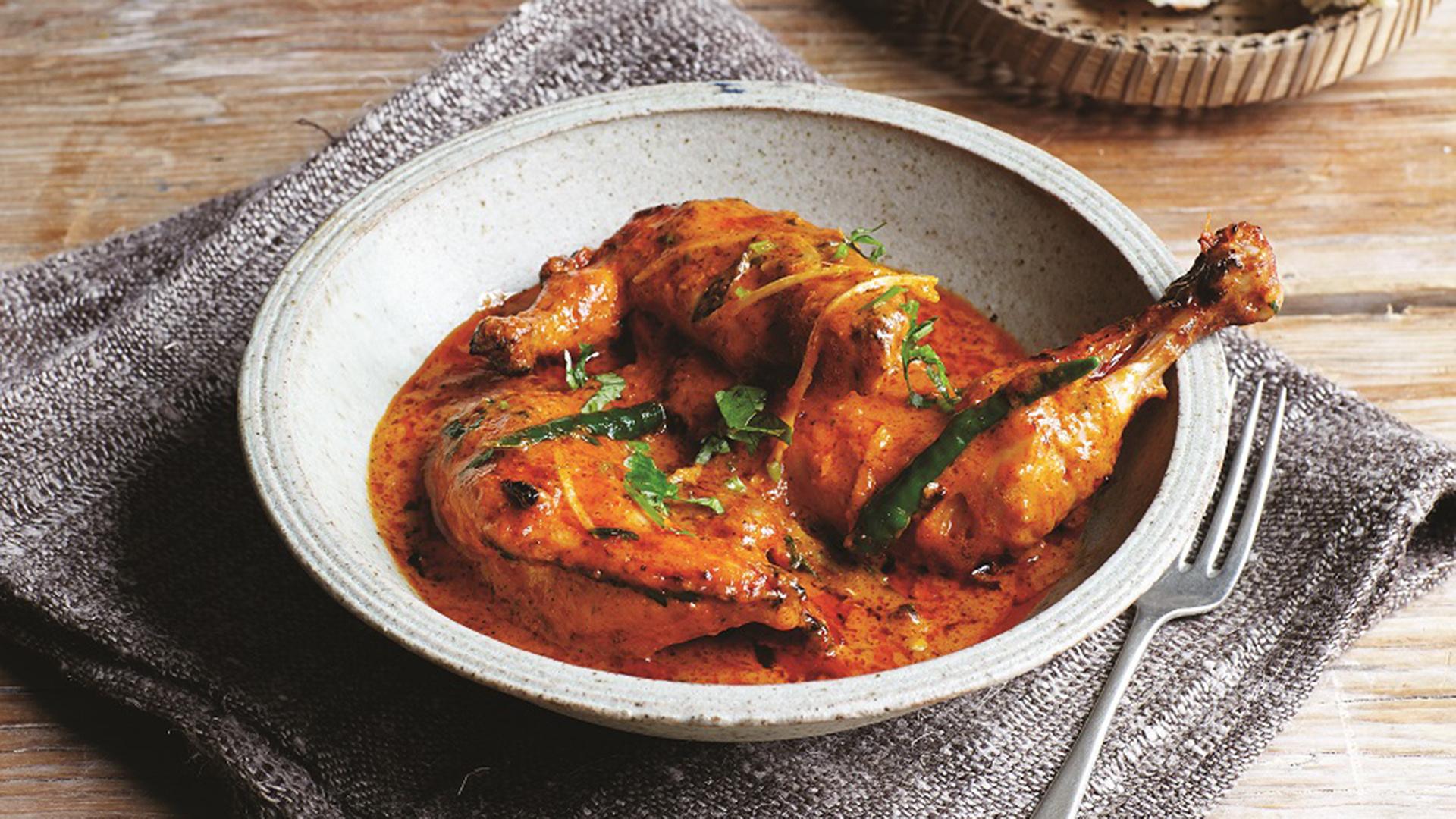 Make Vivek Singh's old Delhi-style butter chicken