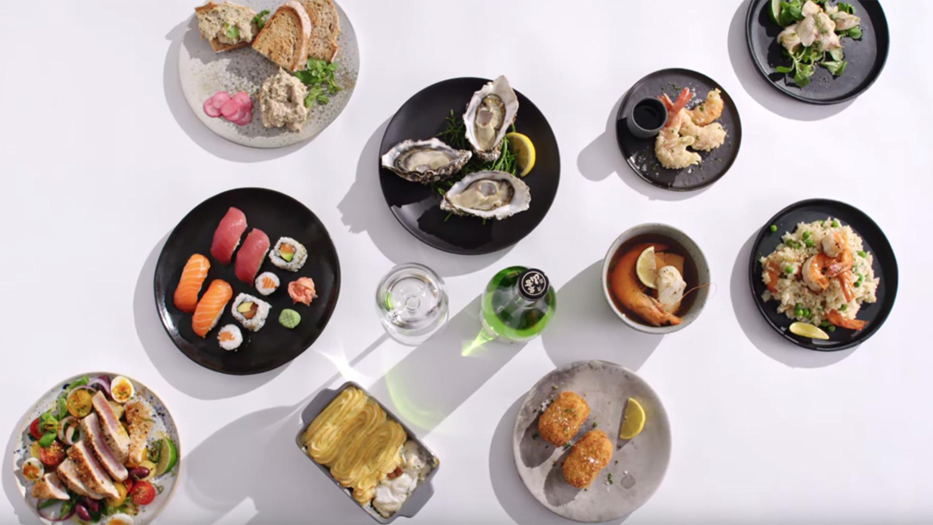 Seafood x sake