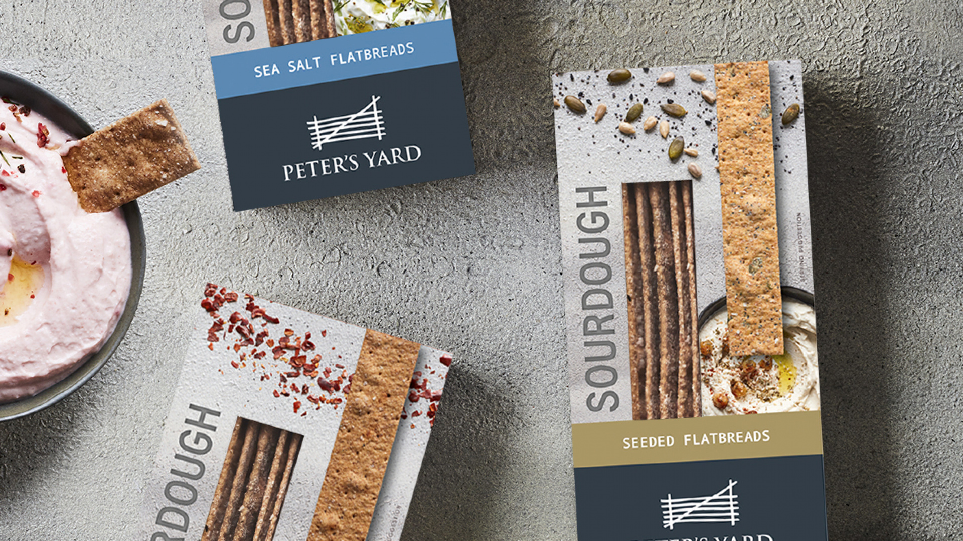 Peter's Yard Sourdough Crispbreads: A selection of their products