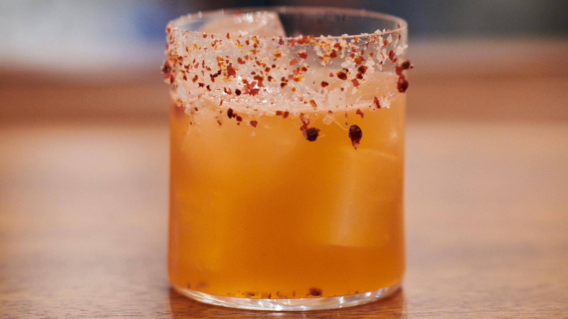 Arabica Bar & Kitchen's Pomegranate Margarita