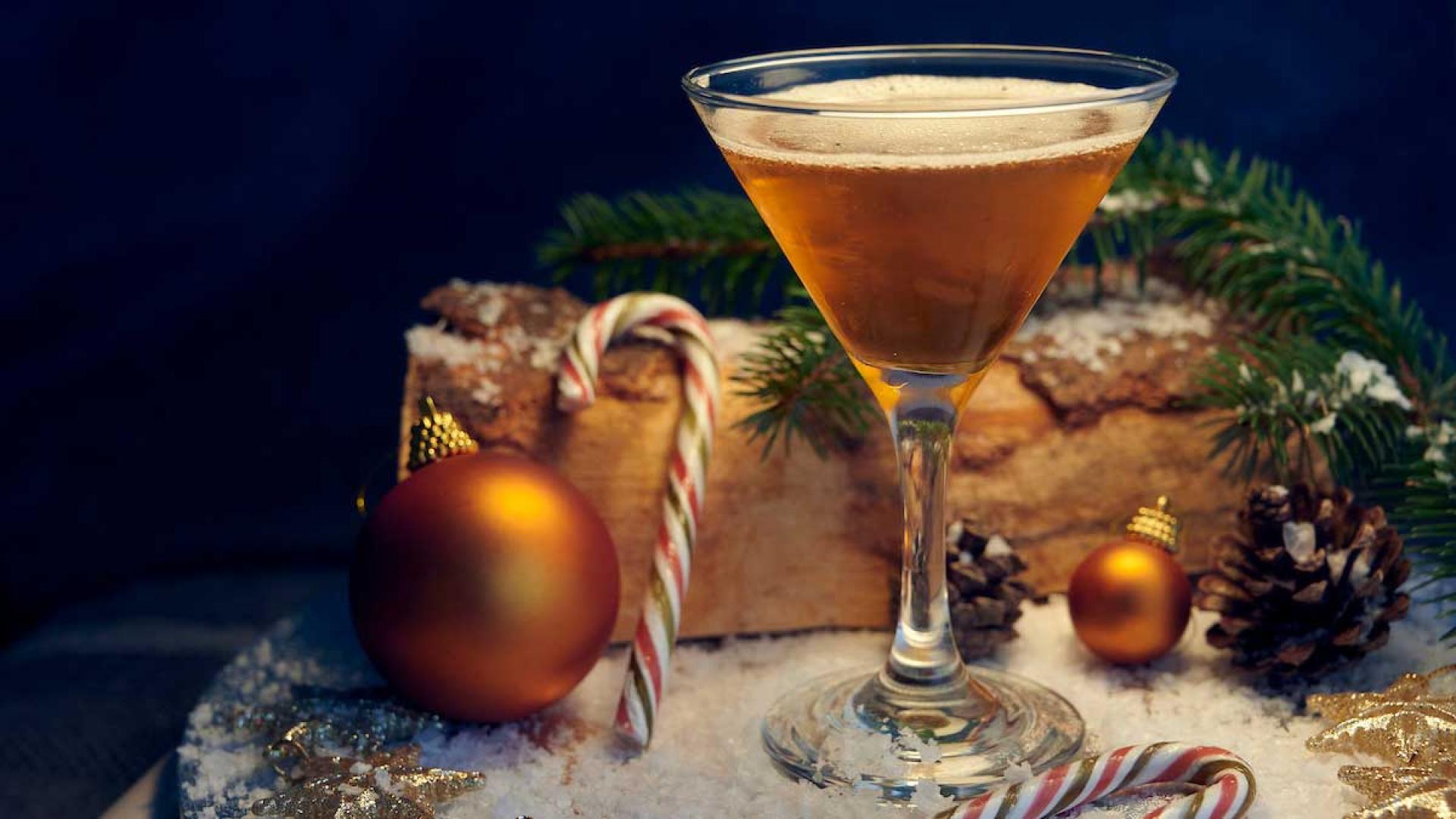 The Christmas stocking cocktail, using Bardinet brandy