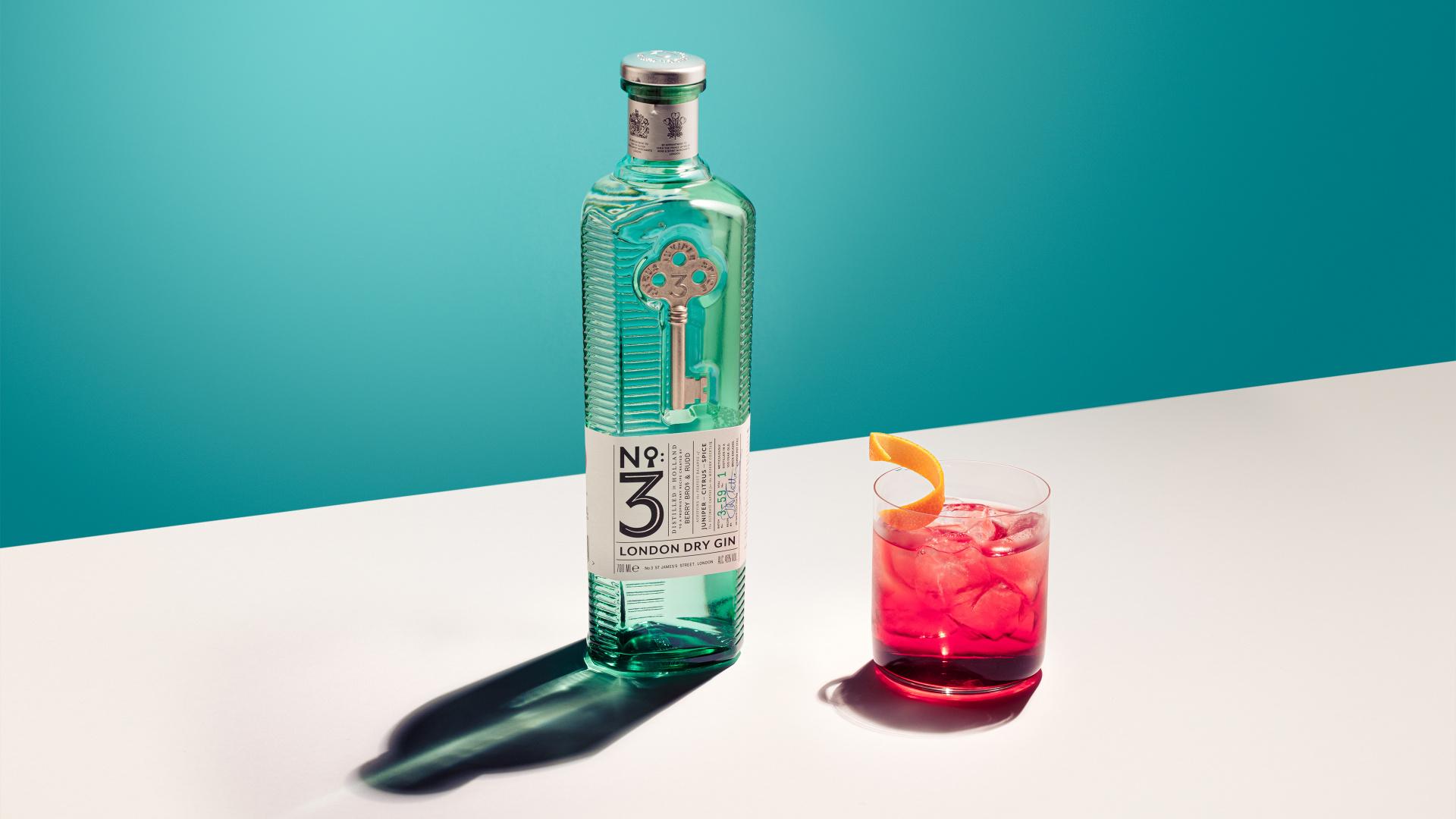 No.3 Gin Valentine's negroni recipe
