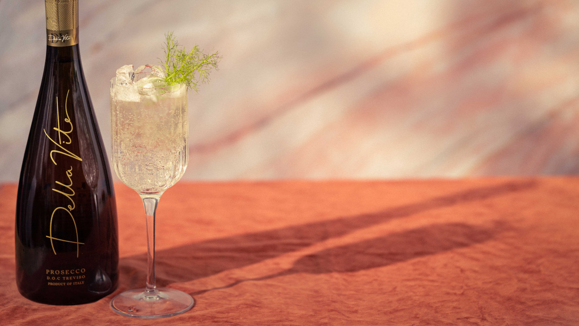 Della Vite hugo prosecco cocktail with fennel