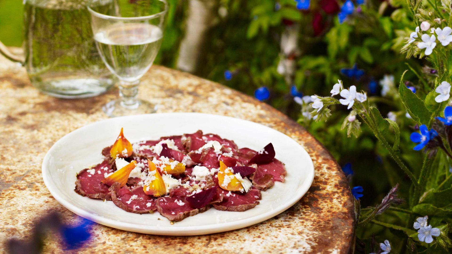 Petersham Nurseries recipe for beetroot and beef carpaccio
