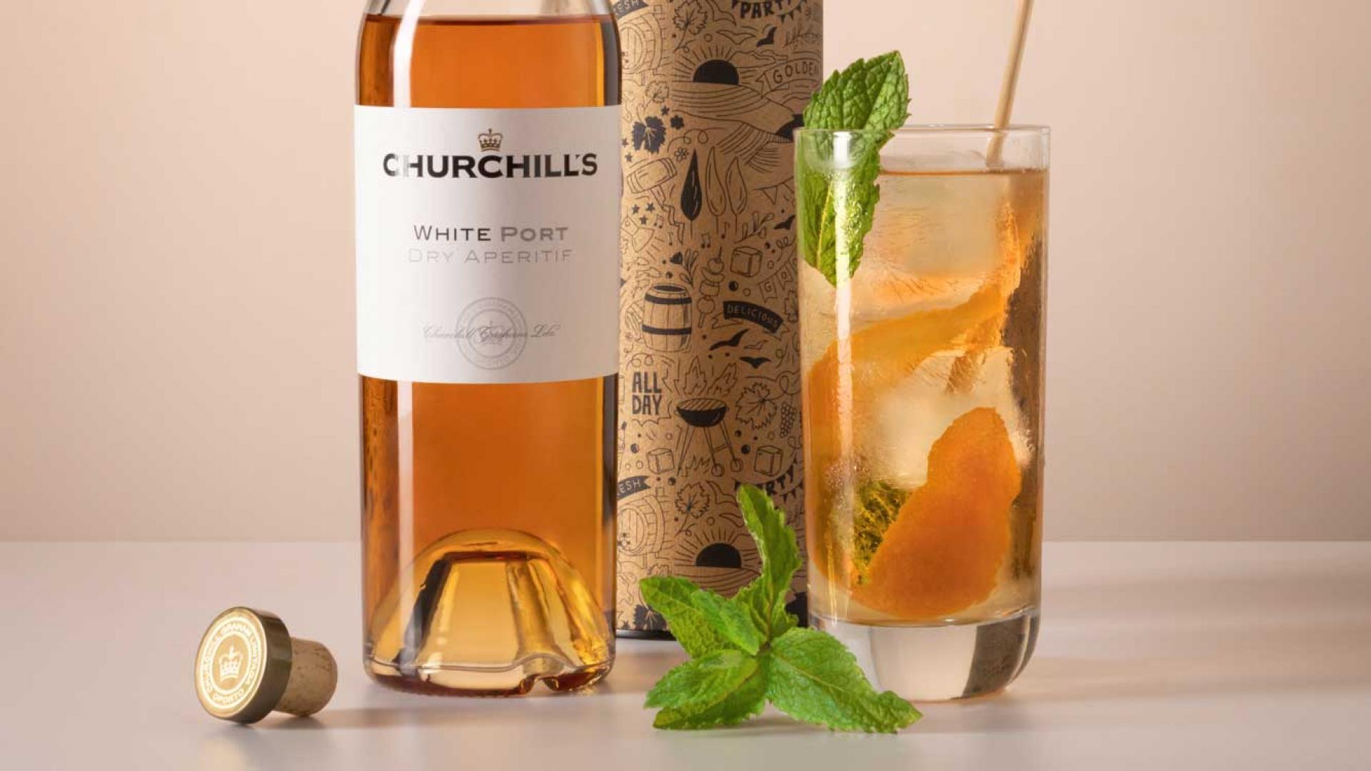 Churchill's white port and tonic recipe