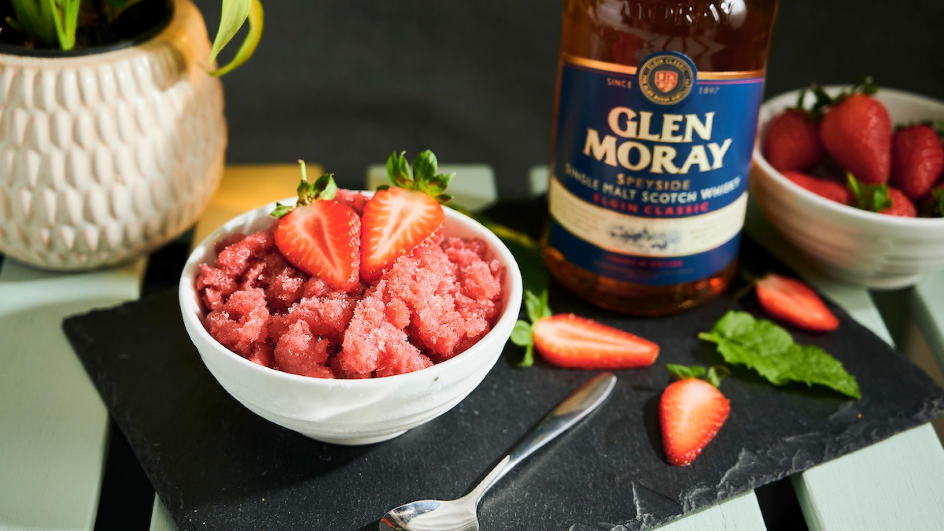Glenn Moray strawberry daiquiri granita