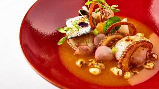 seafood and lobster pozole at Ella Canta, Martha Ortiz's new restaurant at the InterContinental Park Lane