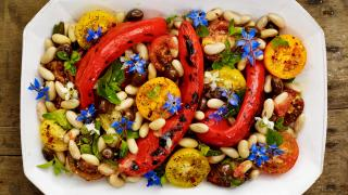 Petersham Nurseries recipe romano peppers and beans