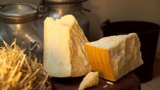 Parmigiano Reggiano picnic recipes: a wedge of parmesan