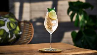 summer spritz recipes: Belvedere Organic Infusions refreshing lemon and basil spritz