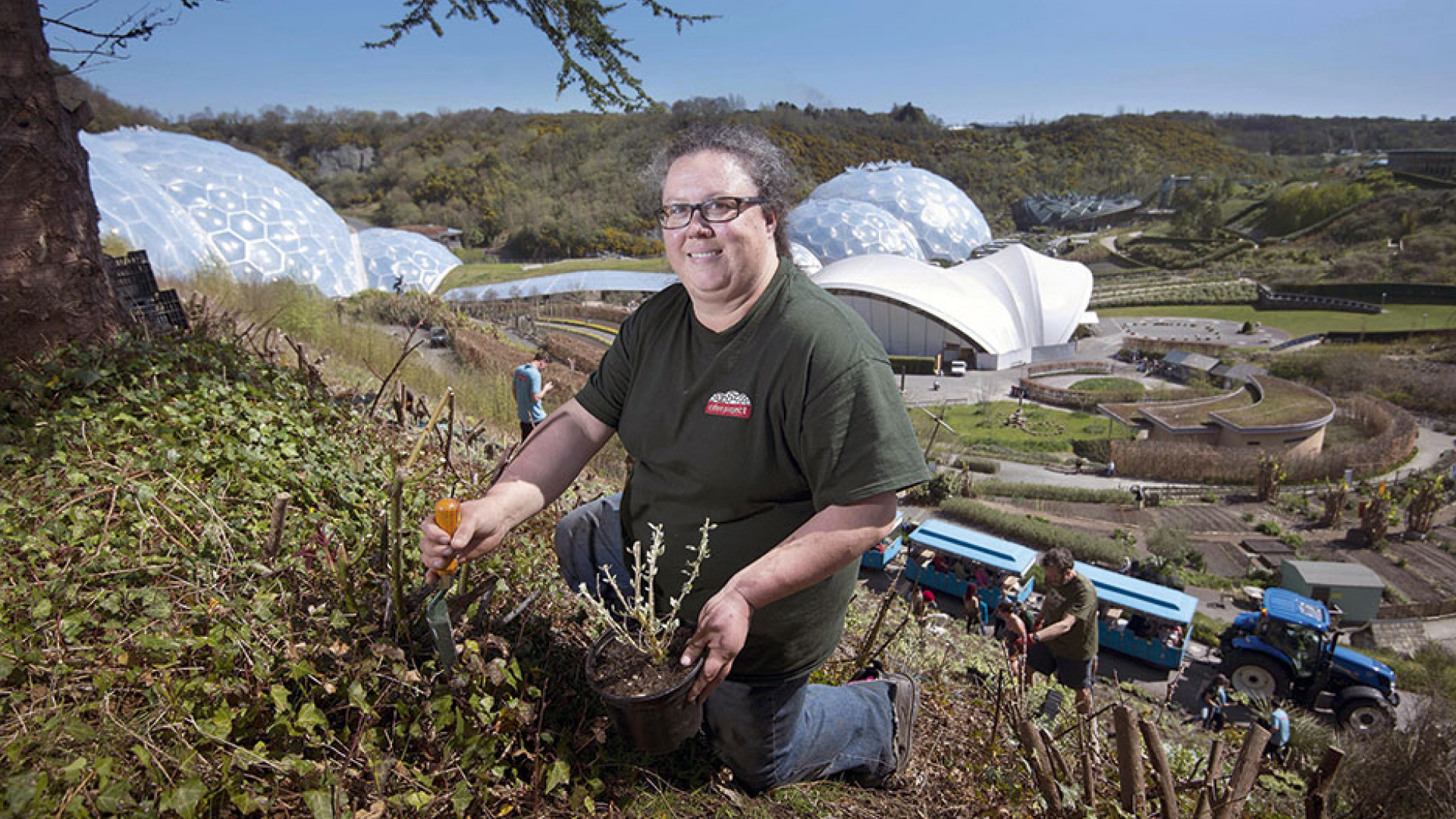 Julie Kendall, lead outdoor horticulturalist at the Eden Project