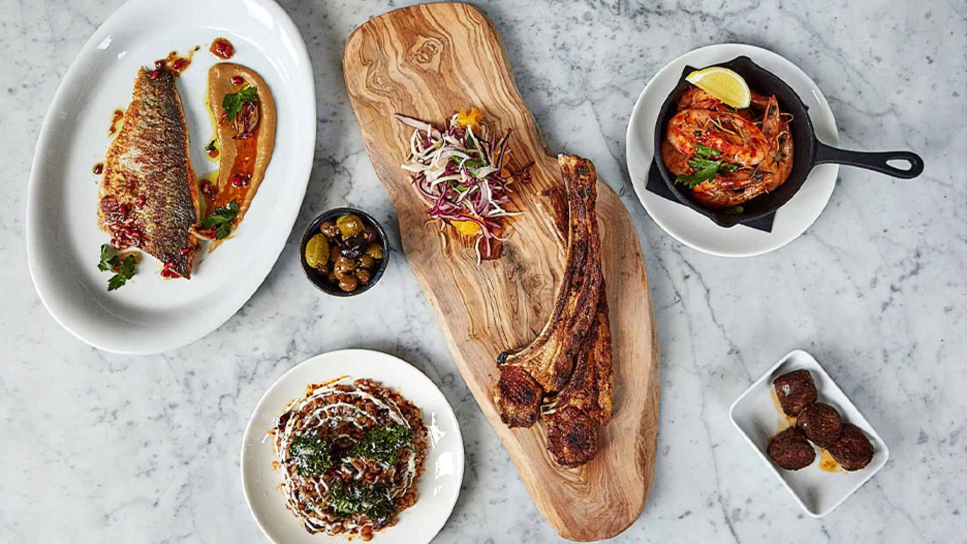 A selection of dishes at Oklava