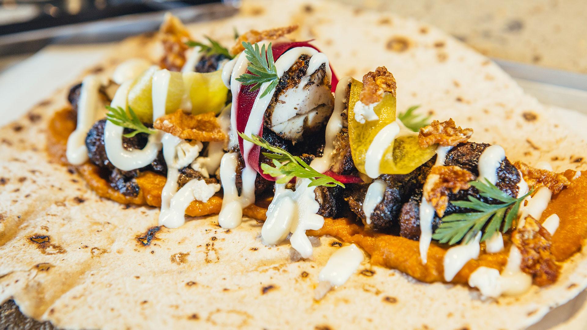 Le Bab's free-range pork shawarma kebab