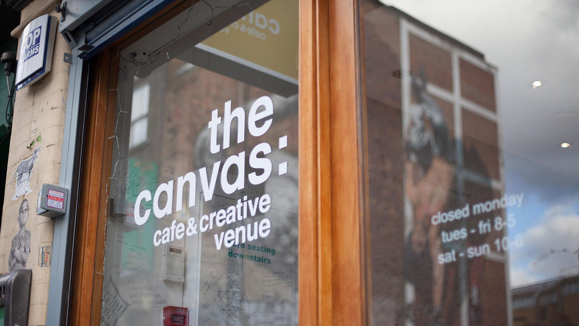The Canvas Café in Shoreditch