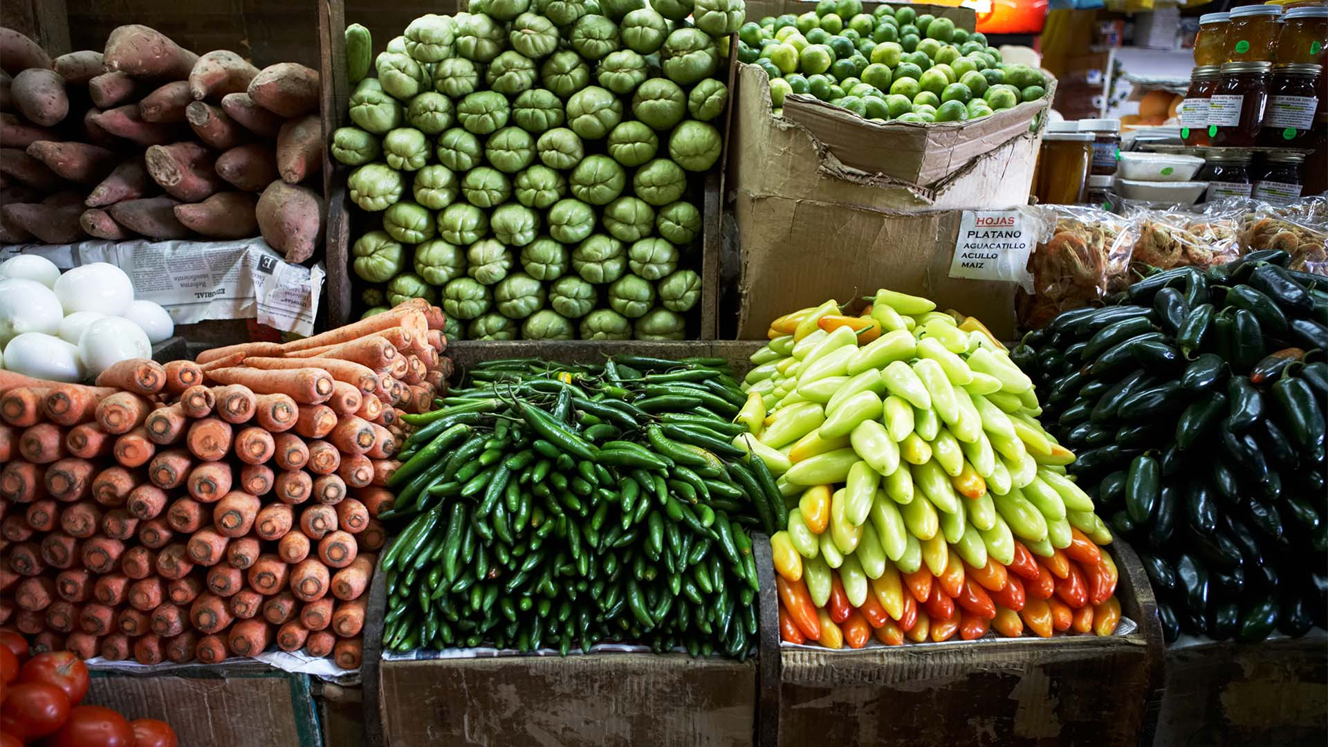 Mexican market produce