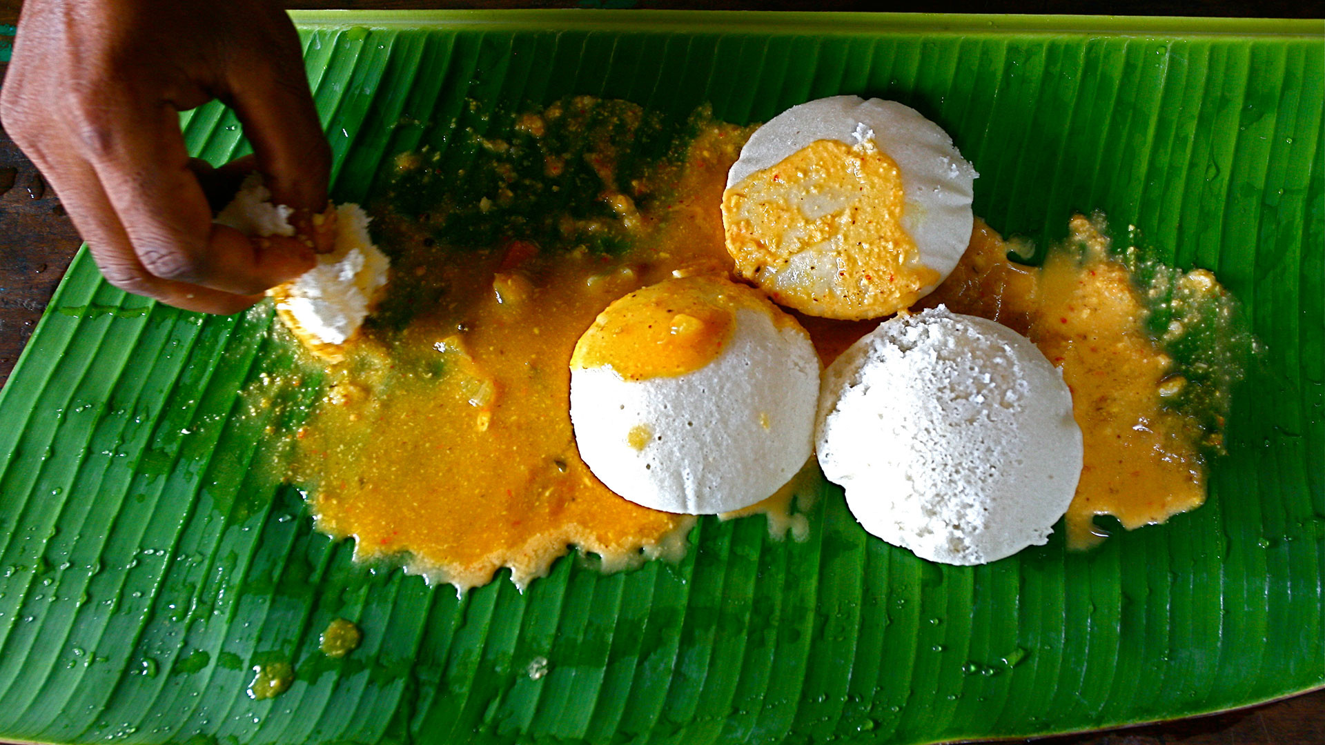 Idli – steamed rice cakes – are a breakfast staple in south India