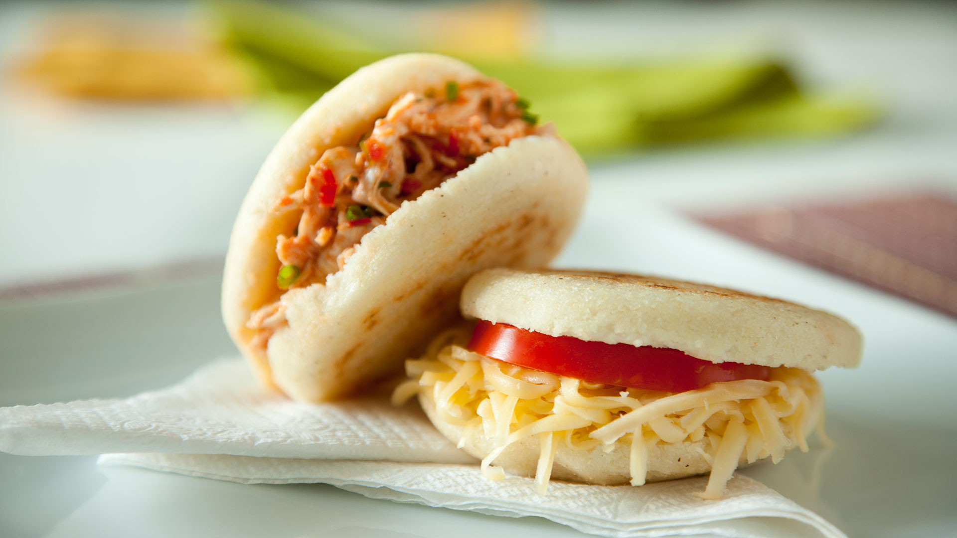 Arepas are a common breakfast in Colombia and Venezuela