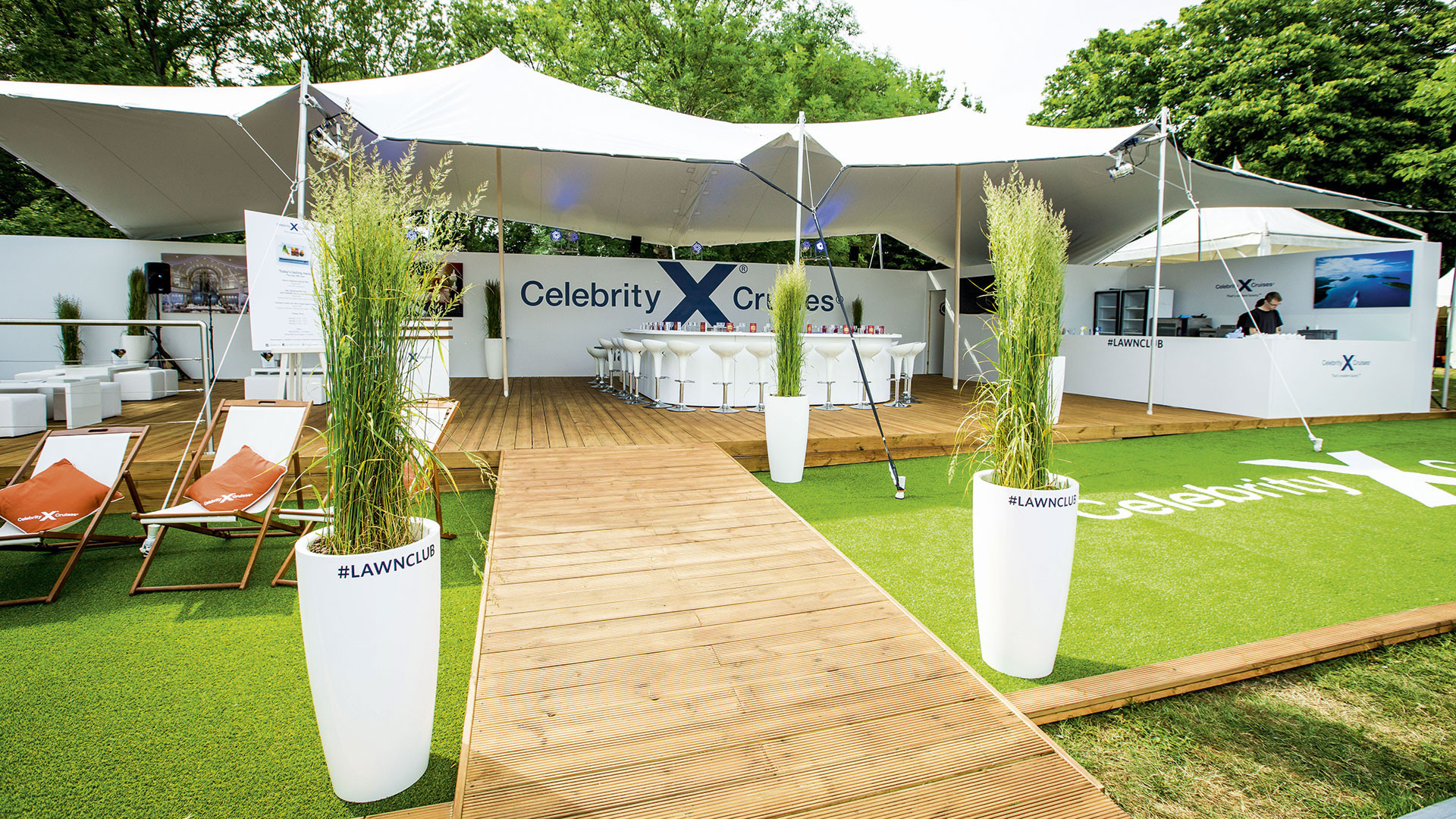 Celebrity Cruises' Lawn Club at Taste of London 2016