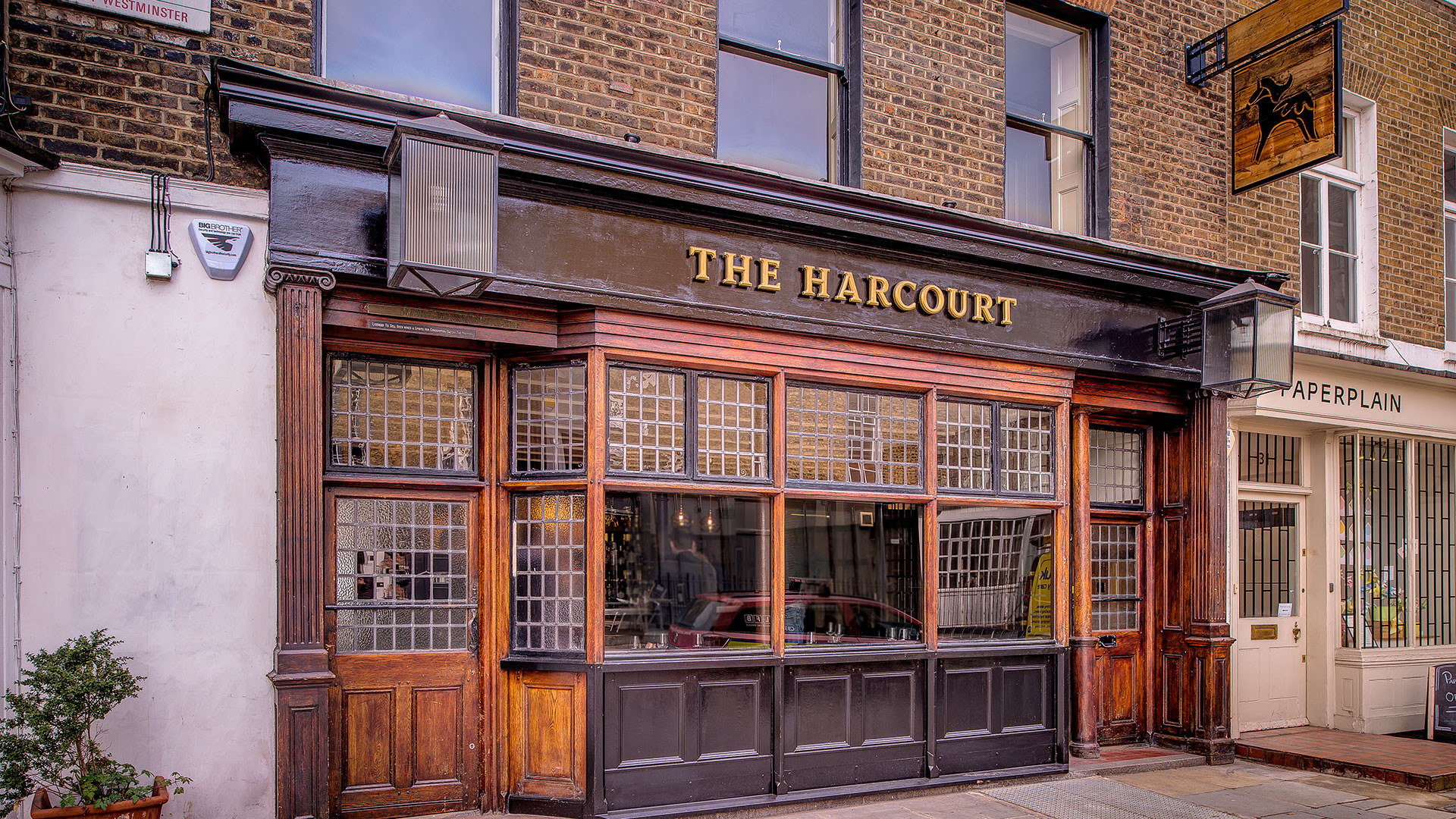 The Harcourt is housed inside a former pub