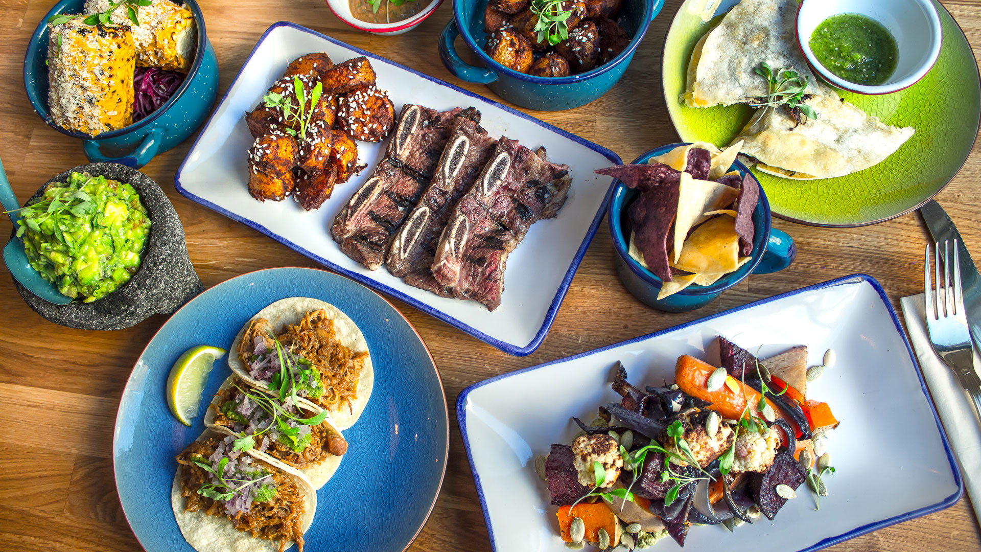 A selection of dishes at Santo Remedio