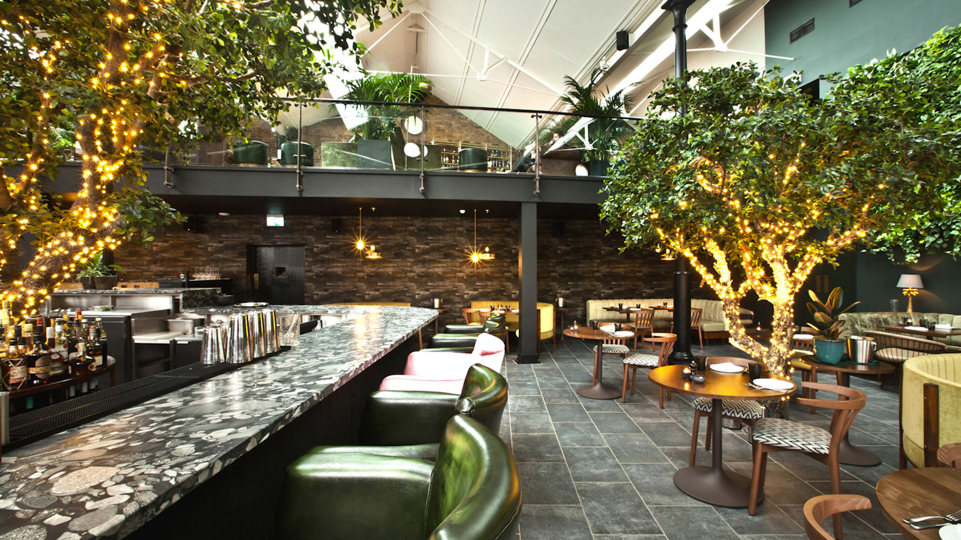 The decadent interiors at Restaurant Ours