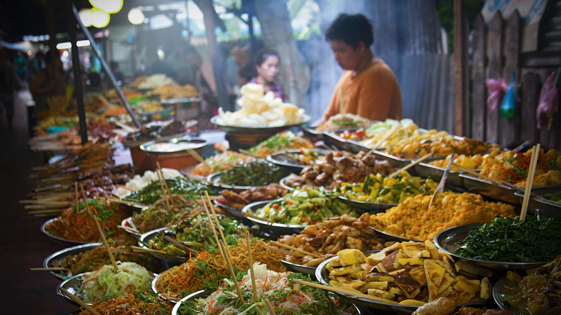 Street food in Bangkok, Thailand. Photograph by Alexander Scheible/Alamy