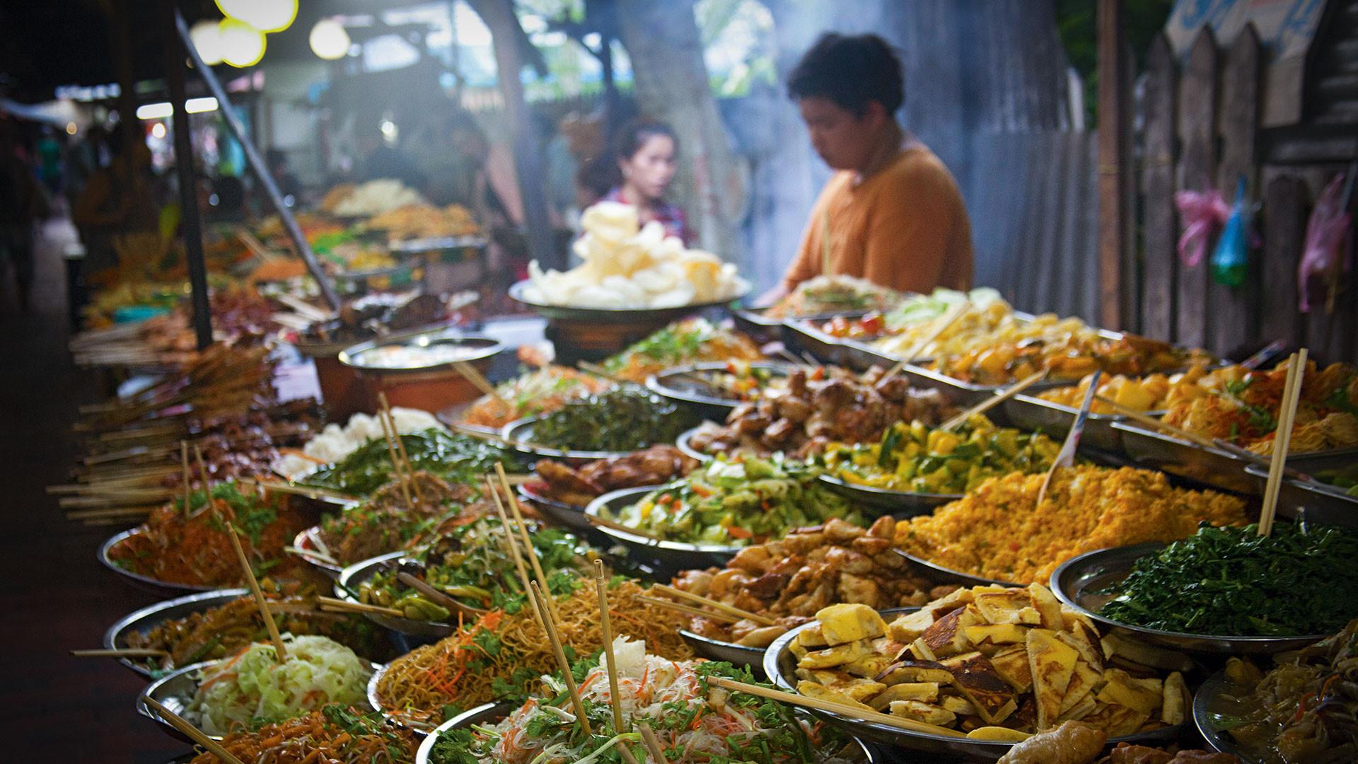Street food in Bangkok, Thailand. Photograph by Alexander Scheible/Alamy