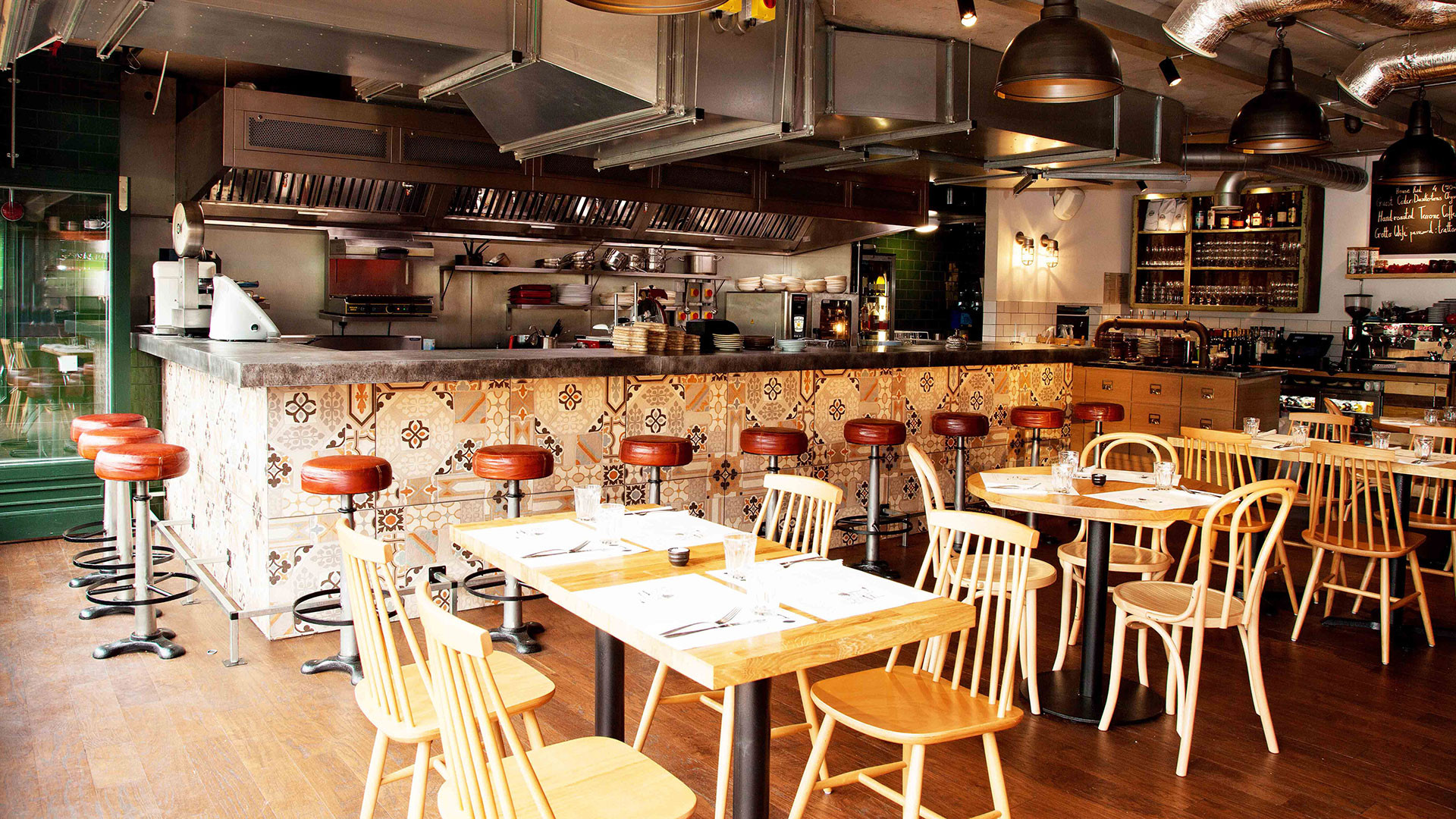 The interiors at Gotto Trattoria, in the Olympic Village