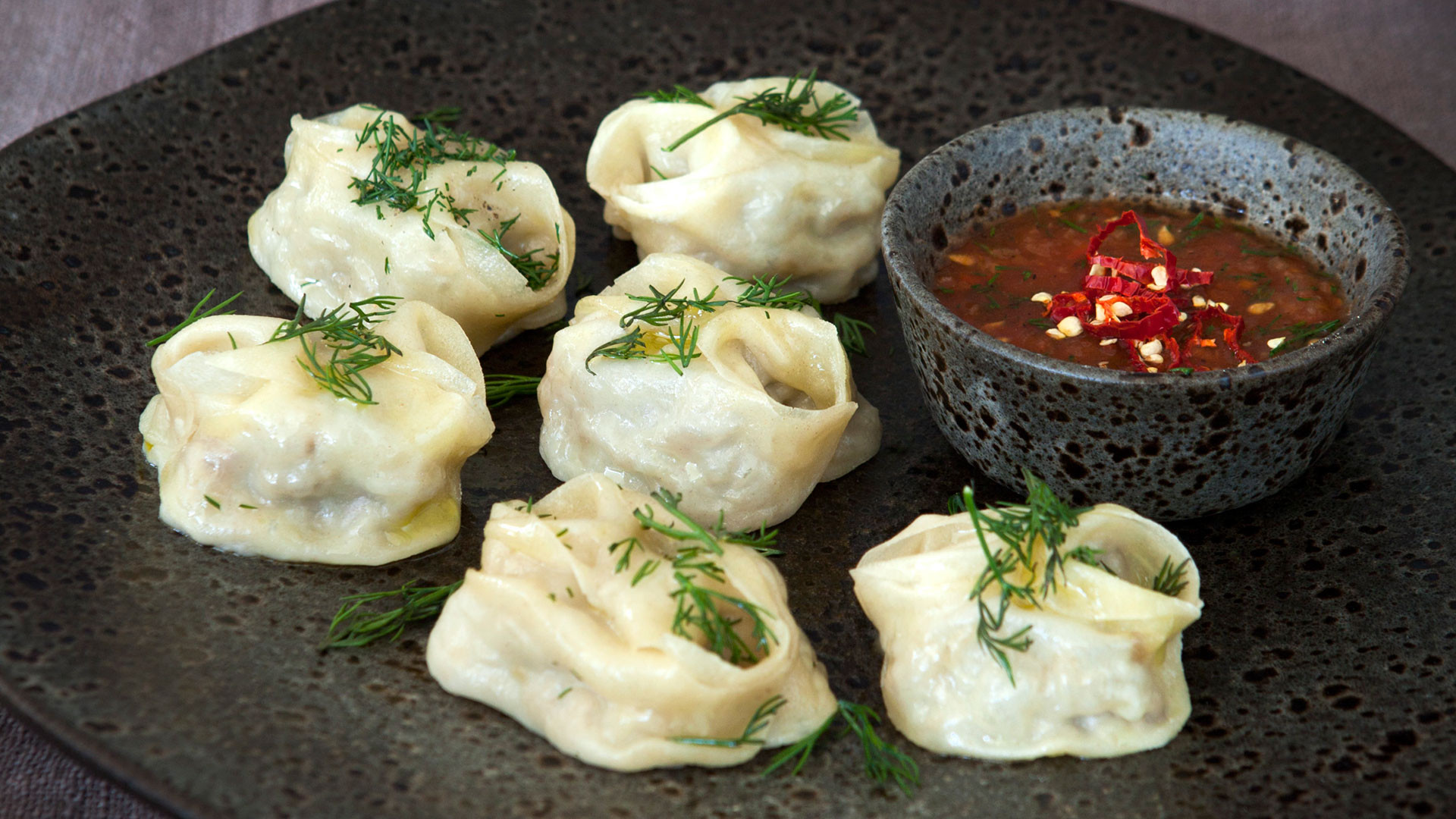 Manti dumplings at Samarkand