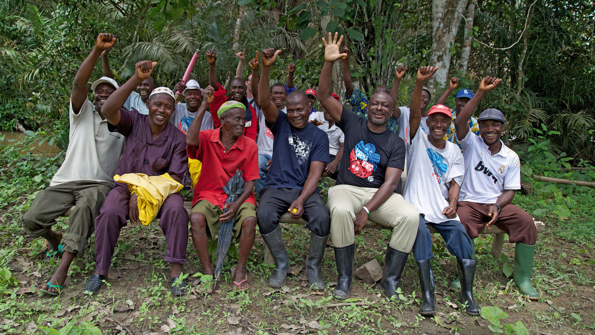 Villagers in Boma, Sierra Leone