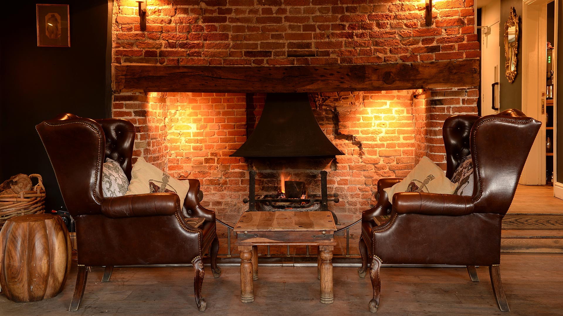 Fireside at The Bildeston Crown