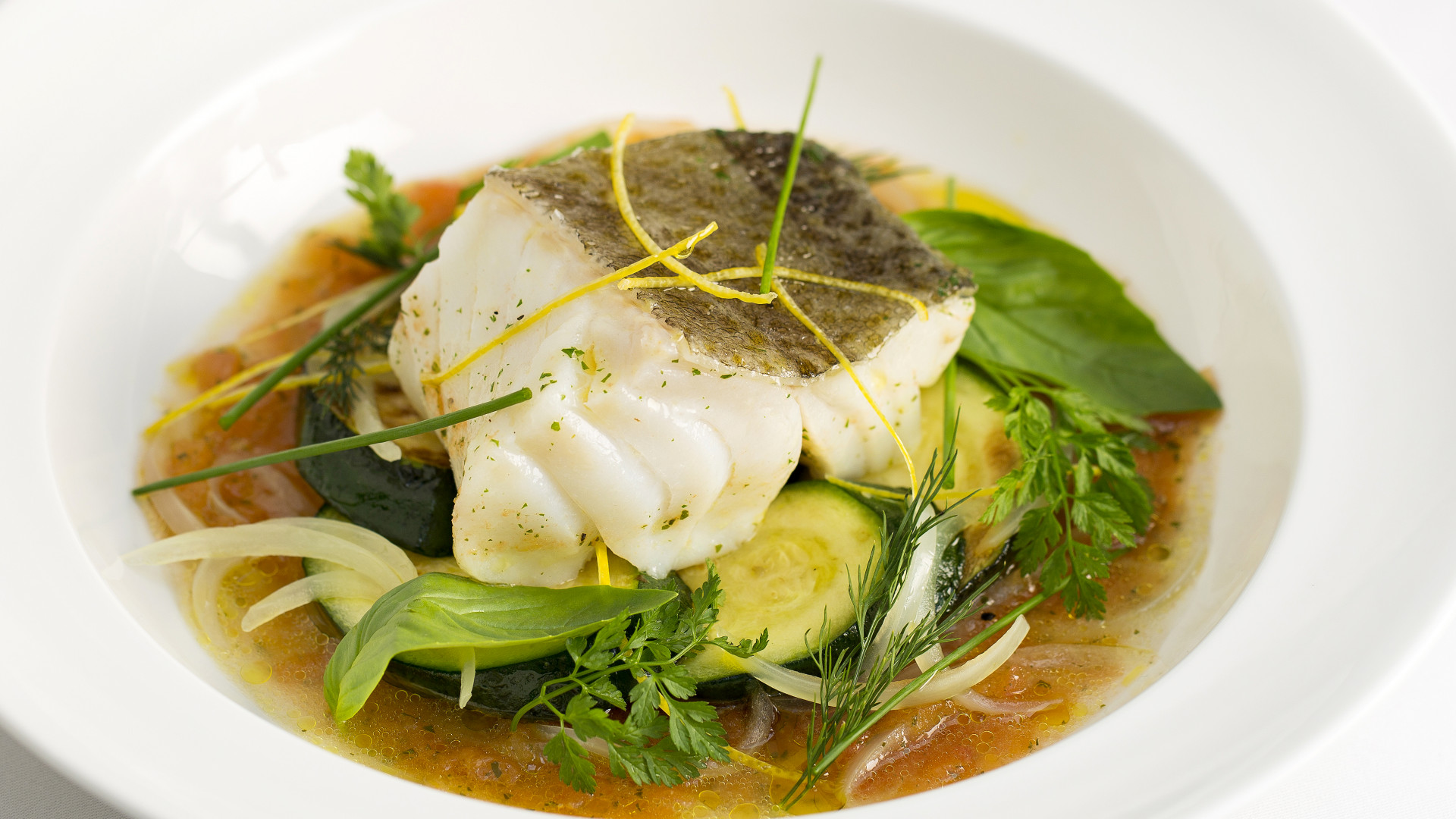 A fish dish at Margot restaurant, London